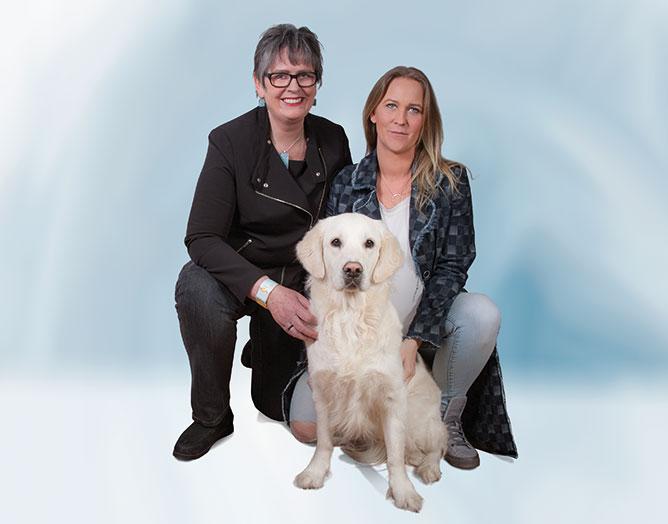 Sabrina Lackner, Christa Egger und Amy Sue, Gruppenbild
